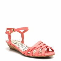 Twisted Flourish Low Wedge Sandals
