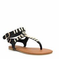 Bar None Double Strapped Sandals