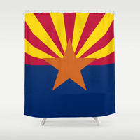 The State flag of Arizona, the 48th state - Authentic version Shower Curtain by LonestarDesigns2020 - Flags Designs +