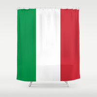 The National Flag of Italy - Authentic Version Shower Curtain by LonestarDesigns2020 - Flags Designs +