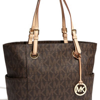 MICHAEL Michael Kors 'Jet Set Signature – Medium' Tote | Nordstrom