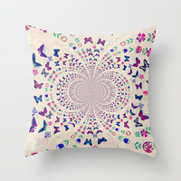 Fly Away Throw Pillow by Laura Santeler