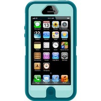 iPhone 5 Body Armor Defender Case Mineral Blue on Aqua Blue