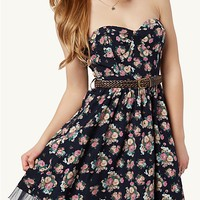 Floral Sweetheart Tube Dress