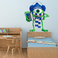 Monsters Decal - Monsters University Movie Wall Sticker Printed and Die-Cut Vinyl Apply in any Flat Surface- Monster Inc Decor