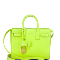 Saint Laurent Mini Fluo Sac De Jour Satchel
