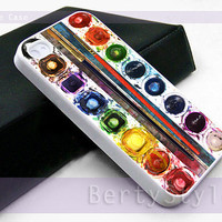 Iphone Case - Iphone 4 Case - Iphone 5 Case - Samsung s3 - samsung s4 - Watercolor set - Photo Print on Hard Plastic