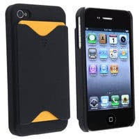 Credit Card Case for Apple iPhone 4 / 4S - Black *Clearance Sale