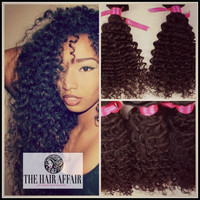 Clip-in Extensions - Kinky Curly Wave Virgin Brazilian Human Hair - 100g - Natural Hair Clip in Hair