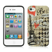 DW IMD Graphic TPU Case for iPhone 4 / 4S - Paris Amour