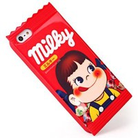 Fujiya Milky Girl Peko Phone Shell Case for Iphone5/5s