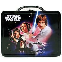 Star Wars Tin Lunchbox - Luke Skywalker Princess Leia Han Solo Obi-Wan Kenobi A New Hope