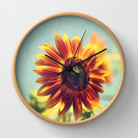 lazy days Wall Clock by Sylvia Cook Photography