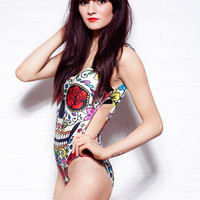 Freak Of Nature Day Of The Dead Bodysuit