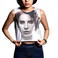 Lana Del Rey Crop Top Tank Shirt Cropped Tops S M L