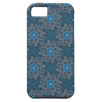 Blue Damask Monogram iPhone 5 Cover