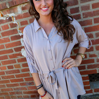 Perfect Day Tunic {Taupe}