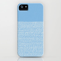 Riverside - Placid Blue iPhone & iPod Case by Jacqueline Maldonado
