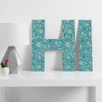 Heather Dutton Bursting Bloom Peacock Decorative Letters