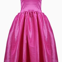 Pink Strapless Formal Dress w/ Full Skirt #dress #pink #formal #classy #classic #partydress #prom #promdress #preppy #preppystyle #feminine