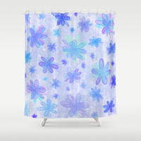 4 Seasons - Winter Shower Curtain by Alice Gosling