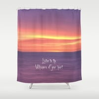 Whispers of your heart Shower Curtain by Alice Gosling