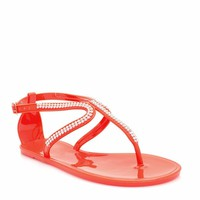 Curvaceous Rhinestone Jelly Sandals