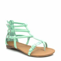 Triple Dare Faux Nubuck Sandals