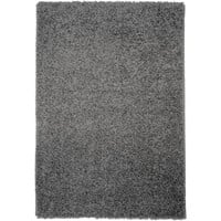 Shag Solid Grey Area Rug (5' x 7')