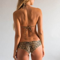 MAYA Golden Zebra Bottom | Vida Soleil