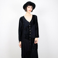 Vintage Goth Dress 90s Dress 1990s Dress Gypsy Dress Patchwork Velvet Dress Maxi Dress Babydoll Dress Boho Bohemian Gauze XL XXL Extra Large
