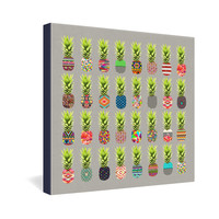 Bianca Green Pineapple Party Gallery Wrapped Canvas