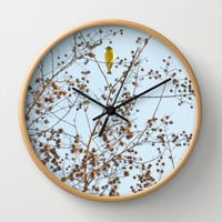 little yellow bird Wall Clock by RichCaspian