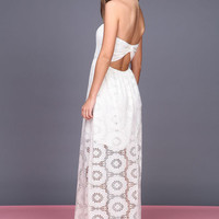 DOILY CROCHET MAXI DRESS