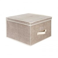 Storage Box - Jumbo - Faux Jute