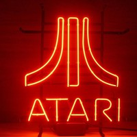 New ATARI Real Glass Neon Light Sign Home Beer Bar Pub GameRoon Sign H48