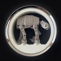 "Star Wars Plugs AT-AT Walker Pair 1"" - 2"" 316L Surgical Steel Tunnels 3D Printed 25mm 30mm 31mm 32mm 35mm 38mm 41mm 44mm 45mm 47mm 48mm 50mm"
