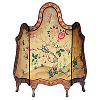 French-Style Painted Fire Screen