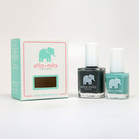 London Fog + Glitter Me Green Nail Polish Set