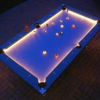 Lighted Outdoor Pool Table, Illuminated Pool Table - Opulentitems.com