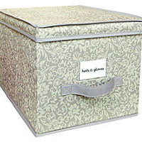 Large Storage Box, Damask