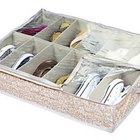 Underbed 12-Pair Shoe Organizer, Damask