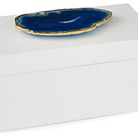 "8"" White Box, Blue Agate"