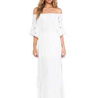 Vix Swimwear Paola Long Dress in Solid White
