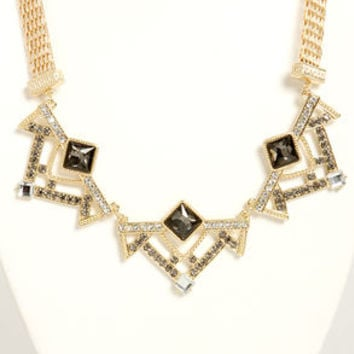 Art Decadence Grey Rhinestone Necklace