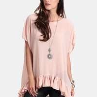 If You Say So Oversized Top In Blush