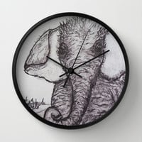 An Adorable Baby Elephant Wall Clock by RokinRonda