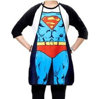 Superman Character Apron Sexy Fashion Apron Funny Joke Gift for Kitchen Cooking