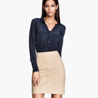 Leather Skirt - from H&M