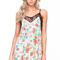 Lacy Floral Slip Dress
